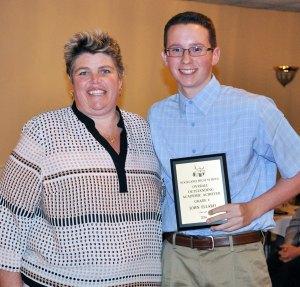 Overall Academic Achiever: John Ellard and Ms. Paulding