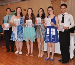 Sean Vo, Shannon Lindahl, Nicole Atkins, Luana Lima, Lauren Zaremba and Michael Belmonte, Academic Letter winners