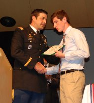 Senior Matthew Kirslis received a four year scholarship from the ROTC program.