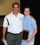 Mr. Graziano presents Shane Murray with the JOHN BELL AWARD.