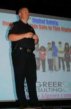School Resource Officer Schnabel introduces Katie L. Greer