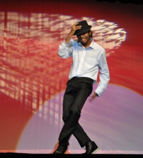 Cornell McWilliams dances to Michael Jackson. photo by Maddie Gear