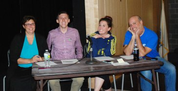 Mrs. Hoffman, Mr. Finn, Mrs. Shaughnessy and Mr. Casagrande are ready to judge the Mr. Rockland pageant. photo by Sophie McLellan