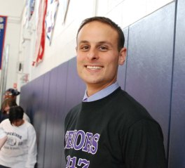 RHS principal John Harrison is excited about his first RHS pep rally. photo by Maddie Gear
