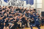 John Ellard leads the sophomores roller coaster .photo by Maddie Gear