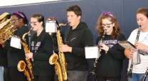 Saxophone and clarinet section photo by Maddie Gear