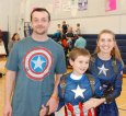 Family dressed as Captain America