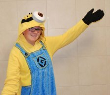 Sydney McKenna dressed up as a Minion