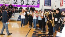 The band performs at the rally. photo by Maddie Gear