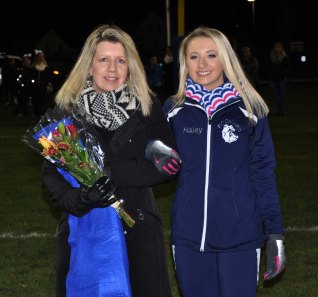 Captain Haley Rice with her mom, Gina