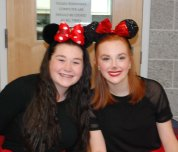 Mary Flaherty and Jasmin Morse as Minnie Mouses