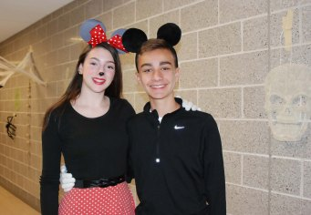 Julia Yeadon and Tyler Johnson as Mickey and Minnie