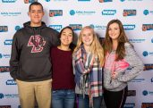 Left to right: Rockland High School seniors, Mo Youssef, Lulu Lima, Julia DiCienzo and Noelle Atkins. These seniors, all members of the National Honor Society represented Rockland High School in the WGBH Quiz Show competition held on Nov. 13, known as Super Sunday. The Rockland was one of 125 schools from throughout Massachusetts that competed for 16 spots on Season 8 of High School Quiz Show on Channel 2 WGBH. Photo from Facebook.com/HighSchoolQuizShow/