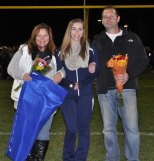Captain Jordan Rothwell with her parents Maryellen and Scott