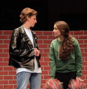 Ryan Struzziery as Danny Zuko and Sophie McLellan as Sandy Dumbrowski