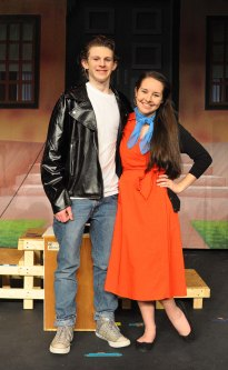 Ryan Struzziery and Sophie McLellan as Danny and Sandy. Veritas photo.