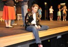 Shandi Austin who played Kenickie gets into character before dress rehearsal.