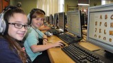 4th graders Giada Morell and Emilee Dunham