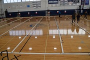The court is ready for the Bocce Tournament.