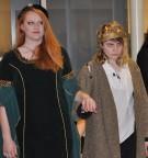 Shandi Austin (right) as Macbeth enters with Eden-Rose Dalton who played Lady Macbeth