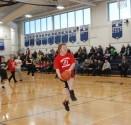 Josh Keating drives to hoop. Veritas photo
