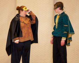 Kellie Berry as Mercutio and Ryan Struzziery as Romeo