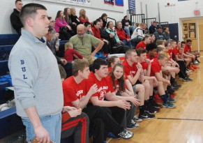 Rockland coach Mike Doyle surveys the action. Veritas photo