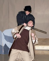 Adam Dalton and Aidan Glennon display the murderous violence in Macbeth