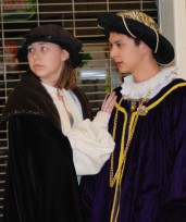 Morgan Foster and Mike Belmonte in a scene from Hamlet. Veritas Photo