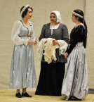 Jurnee Dunn, Tahmya Capra and Erin Field play Juliet, the Nurse and Lady Capulet
