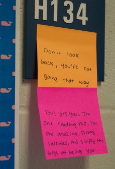 Positivity notes photo by Maddie Gear