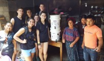 On a day that was supposed to be a free day Rockland High students opted to work. Here one group went to Santa Catarina where they delivered water filters to one family. Left to right are Matt Rocha, Natalie Draicchio, Renata Batista, Sabrina Sprague, Mo Youssef and Dana Peck. photo courtesy of Mr. Connors.