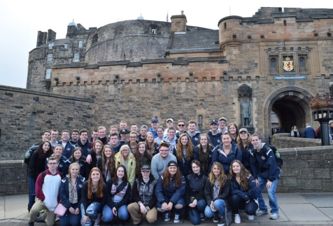 Edinburgh Castle was a favorite attraction for the Rockland group in Scotland.