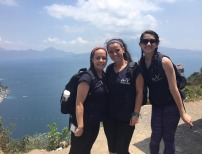 Grace Oliver, Natalie Draicchio and Dana Peck enjoying the fantastic view on a hike. Photo courtesy Melissa Shaugnessy.