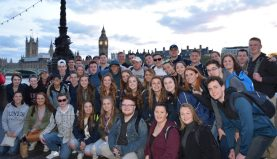 Posing in London with Big Ben in the background. photo courtesy of Ms. Walsh.