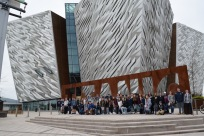 The Titanic Museum in Belfast Northern Ireland is an impressive architectural site.