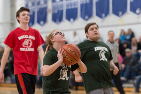 Mary Cartier puts up a shot for Abington photo by William Marquandt