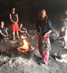 Rockland students got to watch Mayan Shaman Byron Rabe perform a traditional Mayan fire ceremony in ancient cave. Photo courtesy Amanda Lanigan