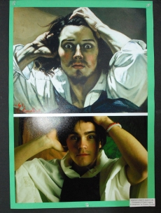 "Shannon Lindahl and Jessica Lutts' Photography and Digital Imaging parody of ""El Desperado"" by Gustave Courbet. Veritas photo"