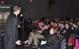 Mr. Harrison discusses the program students have just seen.