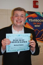 Michael Bodley received an award for Best Solo Performance for his performance in Grease.