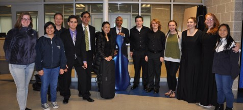 Some of the RHS band members got to meet the BSO performers. Veritas photo