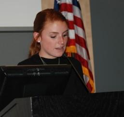 Senior class president, Kaylee Patten