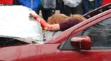 Kaylee Patten suffers head trauma in the mock crash.
