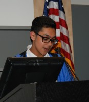 Freshman head rep, Jad Bendarkawi