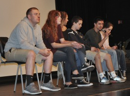 Left to right: Mike McPeck, Kaylee Patten, Hannah Boben, Matt O'Brien, Mike Belmonte, Sophie McLellan discuss their reactions to the program.