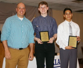 Mr. Casagrande presented Math Achievement awards to Oliver Reera and Sean Belmonte