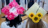 Flowery caps