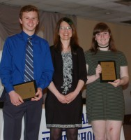 Stephanie Palmer presented French awards to Sean Morrissey and Elizabeth Kelly