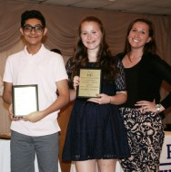 Melissa Shaughnessy presented the Spanish Awards to Jad Bendarkawi and Katy Buckley